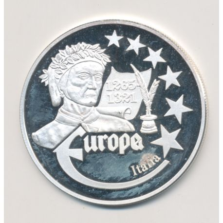 Medaille Europa - 1999 - Italie - Collection Écrivains - argent