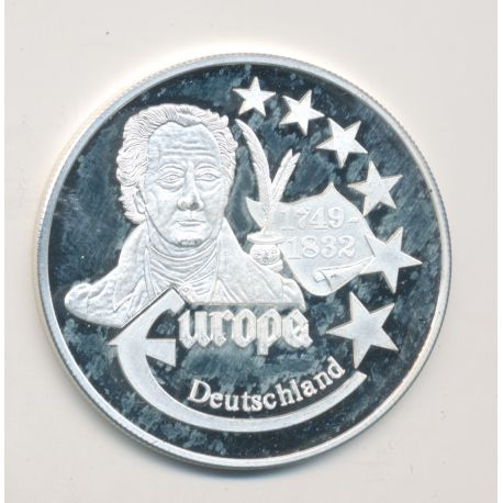 Medaille Europa - 1999 - Allemagne - Collection Écrivains - argent
