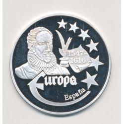 Medaille Europa - 1999 - Espagne - Collection Écrivains - argent