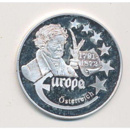 Medaille Europa - 1999 - Autriche - Collection Écrivains - argent