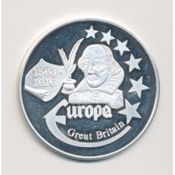 Medaille Europa - 1999 - Angleterre - Collection Écrivains - argent