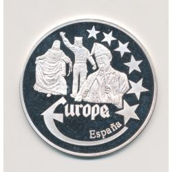 Medaille Europa - 2000 - Espagne - Collection Folkore - argent