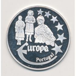 Medaille Europa - 2000 - Portugal - Collection Folkore - argent