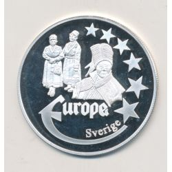 Medaille Europa - 2000 - Suède - Collection Folkore - argent