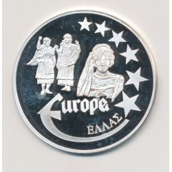 Medaille Europa - 2000 - Grèce - Collection Folkore - argent