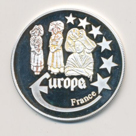 Medaille Europa - 2000 - France - Collection Folkore - argent