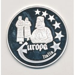 Medaille Europa - 2000 - Italie - Collection Folkore - argent