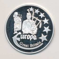 Medaille Europa - 2000 - Angleterre - Collection Folkore - argent