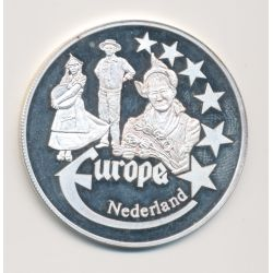 Medaille Europa - 2000 - Pays-bas - Collection Folkore - argent