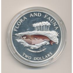 Bahamas - 2 Dollars 1995 - Flora and fauna