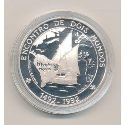 Portugal - 1000 escudos - 1992 - Encontro de dois mundos - argent proof