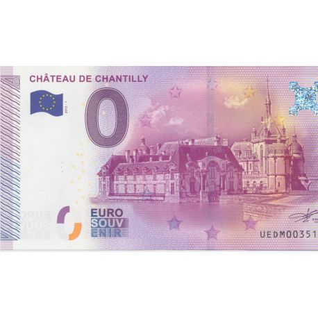 Billet Chateau de Chantilly 2015