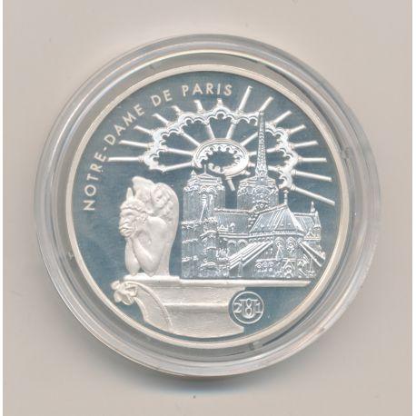 10 Francs - 2001 - notre dame de paris - Monuments de France - argent BE
