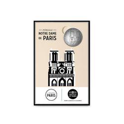 Plaquette avec mini Médaille 34mm - Notre-Dame de Paris - 2019