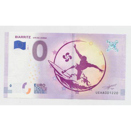 Billet Zéro € - Cité de l'océan - 2019 - Biarritz - le surfeur