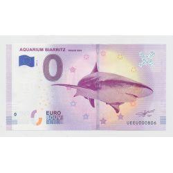 Billet Zéro € - Aquarium de Biarritz - 2019 - requin gris