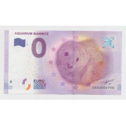 Billet Zéro € - Aquarium de Biarritz - 2019 - phoque