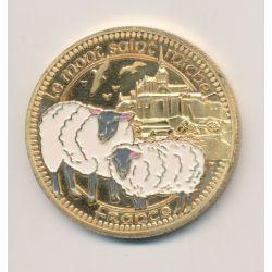 Medaille - Mont st michel - en couleur