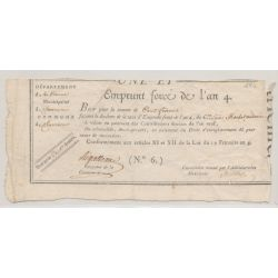 Emprunt - Bon pour 100 Francs - 10 Décembre 1795