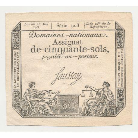 Assignat - 50 Sols - 23 mai 1793 - série 903