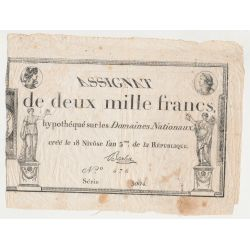 Assignat - 2000 Francs - 7 Janvier 1795