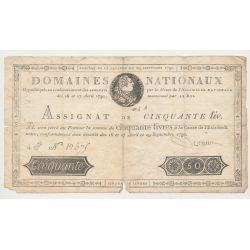 Assignat - 50 Livres 1790 - Louis XVI