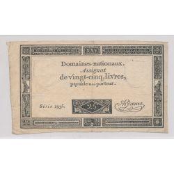Assignat - 25 Livres - 1793