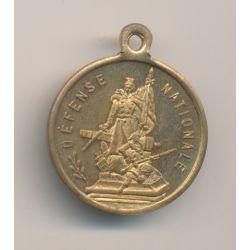 Médaille - Défense nationale - Inauguration de la statue - 12 aout 1883 - Courbevoie