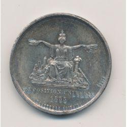 Médaille - Exposition Universelle - 1855 - Napoléon III - étain