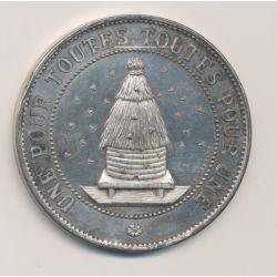 Médaille - Société d'Apiculture de la Meuse - argent - Une pour toutes, toutes pour une