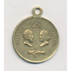 Médaille - Barbes Raspail - République démocratique et sociale - laiton