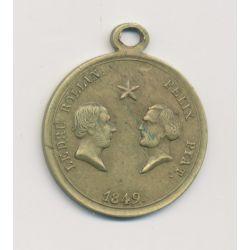 Médaille - Ledru Rollin - Felix Pyat - République démocratique et sociale - 1849 - laiton