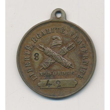 Médaille - Société des droits de l'homme et de citoyen - cuivre