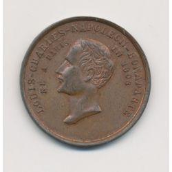 Médaille - Élection représentant du peuple 1848 - Louis  Charles Napoléon Bonaparte - cuivre