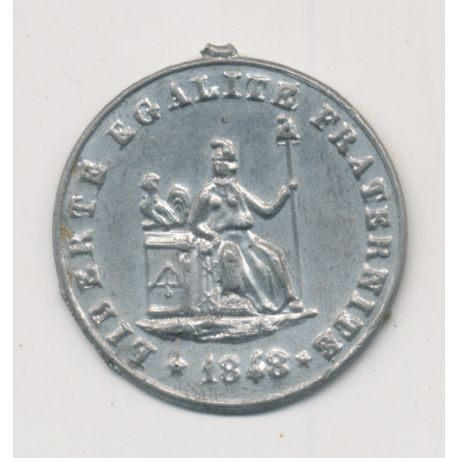 Médaille - Journée 22 23 24 février 1848 - 2e République - étain