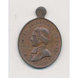 Médaille - Affre Archevêque de Paris - 1848 - cuivre