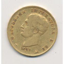 Italie - 40 Lires 1811 M Milan - Napoleone imperatore - variété 1811/180