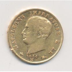 Italie - 40 Lires 1814 M Milan - Napoleone imperatore - variété 1814/180