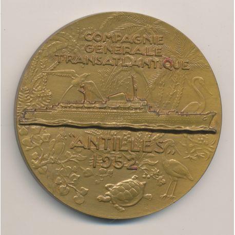 Médaille - Paquebot Antilles 1952 - Compagnie générale transatlantique - french line