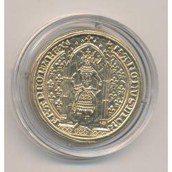 Médaille - Franc à piedl - Musée de la monnaie - 1996 - laiton doré