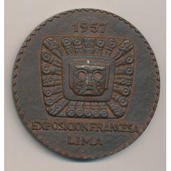 Médaille - Exposition Française - Lima - 1957 - bronze