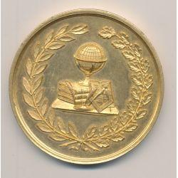 Médaille - Association des anciens élèves du lycée de Moulins - 1883 - allier - cuivre