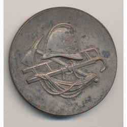 Médaille - Sapeurs pompiers - République Française - bronze argenté