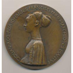 Médaille - Princesse Cecilia Gonzaga - refrappe - bronze