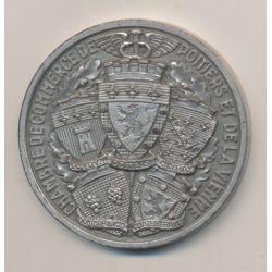 Médaille - Chambre de commerce - Poitiers et la vienne - bronze argenté