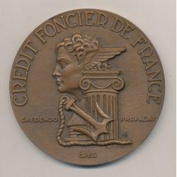 Médaille - Crédit foncier de France - 1952 - bronze - Baron