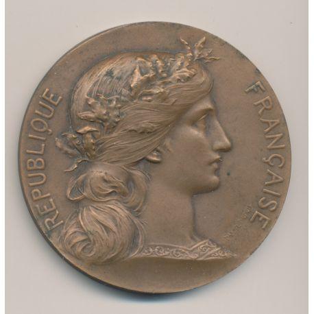 Médaille - République française - Prefet Seine inférieure - bronze - Daniel Dupuis