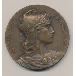 Médaille - Société amicale et de prévoyance de la préfecture de police - bronze