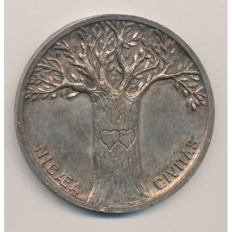 Médaille de mariage - Mairie de Nice - bronze argenté - Basler