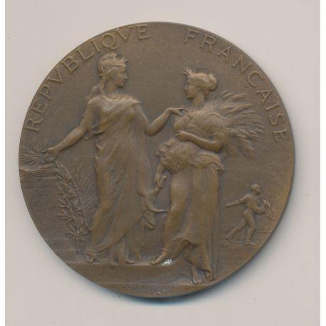 Médaille - Associations agricoles - République Française - A.Dubois - bronze